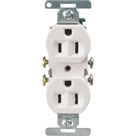Cooper 5270 Straight Blade Standard Duplex Receptacle  125 V  15 A  2 Pole  3 Wire  White