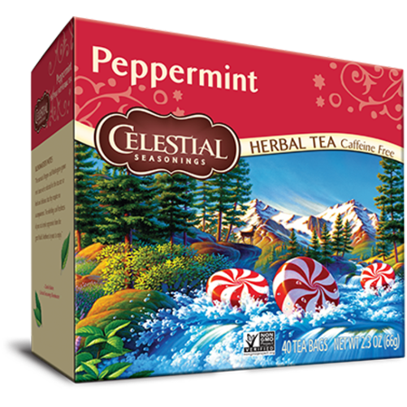 Celestial Seasonings Herbal Tea, Peppermint, 40