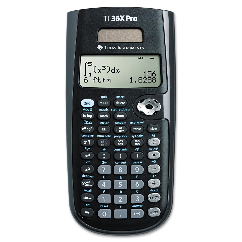 Texas Instruments TI-36X Pro Scientific Calculator, 16-Digit LCD