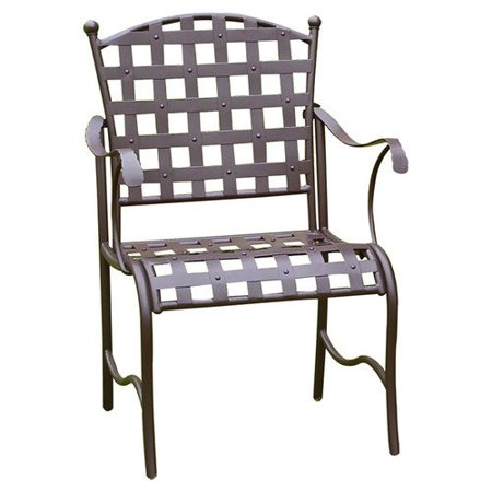International Caravan Santa Fe Wrought Iron Patio Dining Chair Set Of 2 W