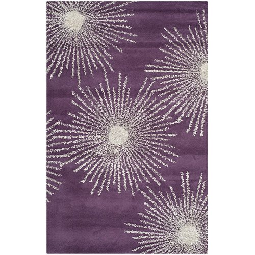 Walmart Purple Rug: Safavieh Soho Purple & Ivory Area Rug