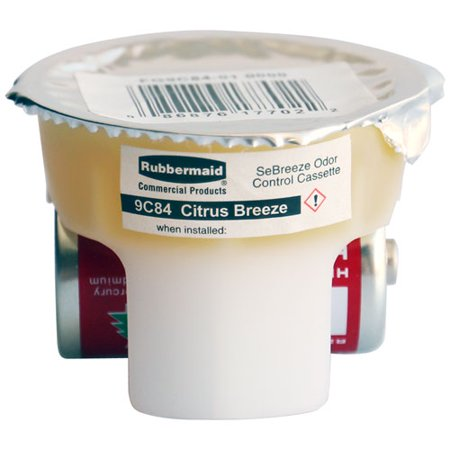 Rubbermaid Commercial FG9C84010000 SeBreeze Citrus Breeze Odor Absorbing Fragrance Cassette (6-Pack)