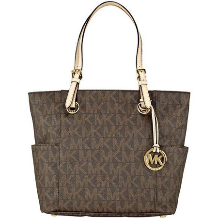 Michael Kors Jet Set Signature Logo Tote in Brown - 30S11TTT4B-200