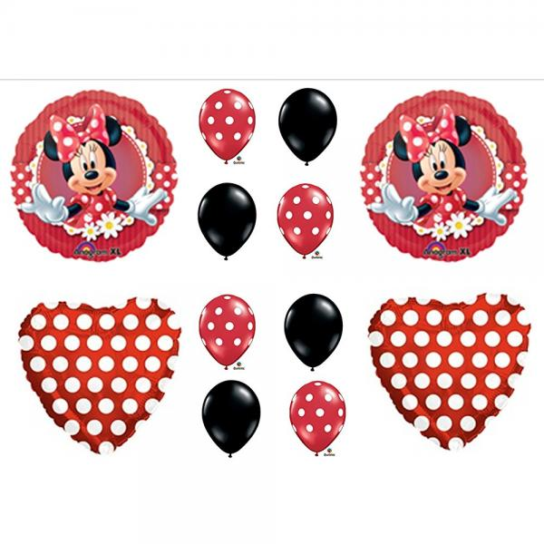 Mad About Minnie Mouse Birthday Party Balloons