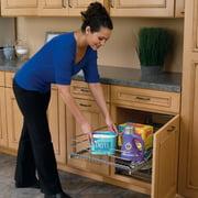 "Rev-A-Shelf 18"" Pullout 2 Tier Wire Basket Cookware Cabinet Organizer Chrome"