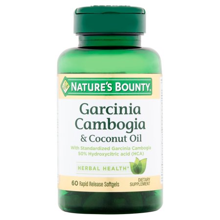 Natures Bounty Garcinia Cambogia   Coconut Oil Dietary Supplement Softgels  60 Count