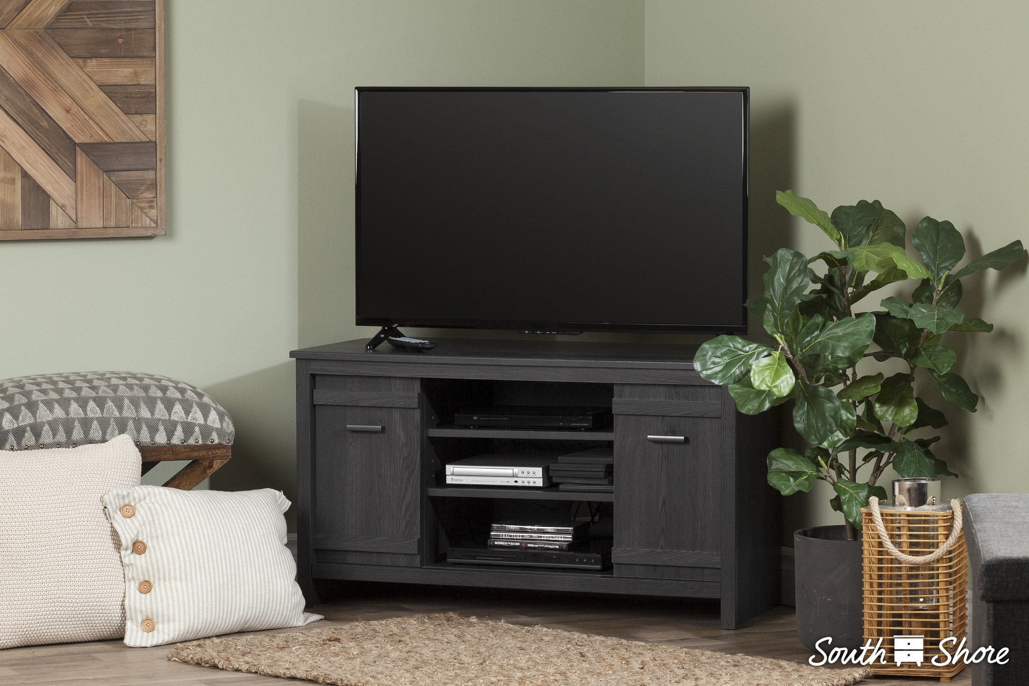 65586d377e5 South Shore Exhibit Corner TV Stand