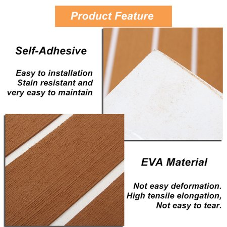 94'' x 17'' EVA Foam Marine Boat Teak Decking Yacht Sheet Flooring Pad DIY - image 7 of 7