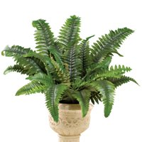 Artificial Boston Fern Lush Shrub Plant, for Indoor & Outdoor