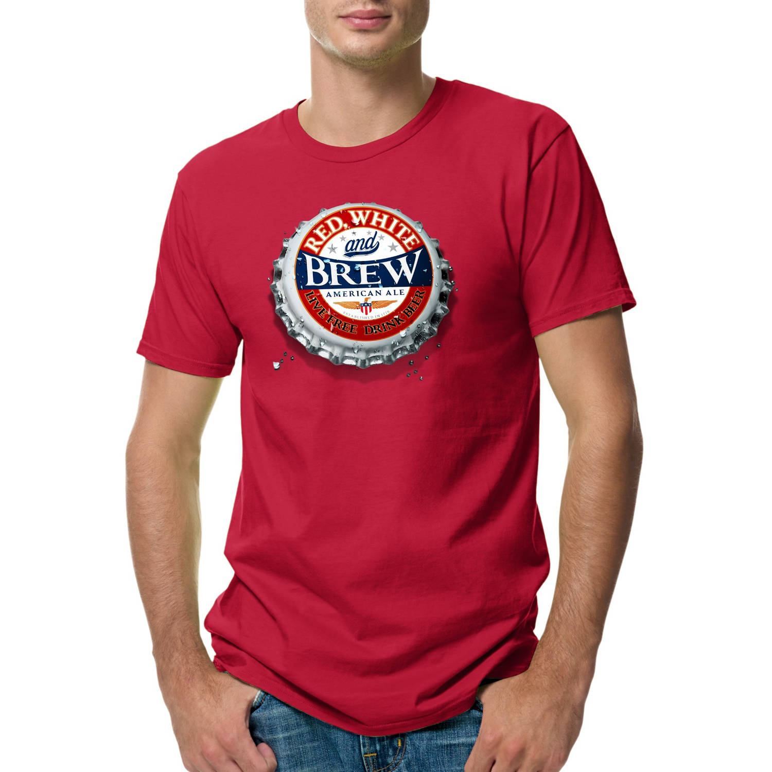 Hanes Big Men's Lightweight Graphic Tee - Americana Collection