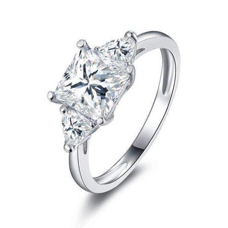 - ON SALE - Grace 1.6CT Three Stone IOBI Simulated Diamond Ring 8