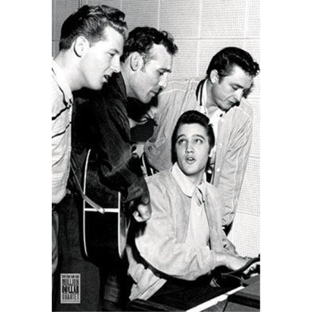 Million Dollar Quartet - Elvis Presley - Jerry Lee Lewis - Carl Perkins - Johny Cash 36x24 Music Art Print (Elvis Presley And Jerry Lee Lewis Related)