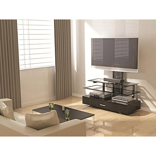 """Z-Line Designs Draper 3-In-1 TV Stand with Mount, for TVs up to 60"""", Black"""