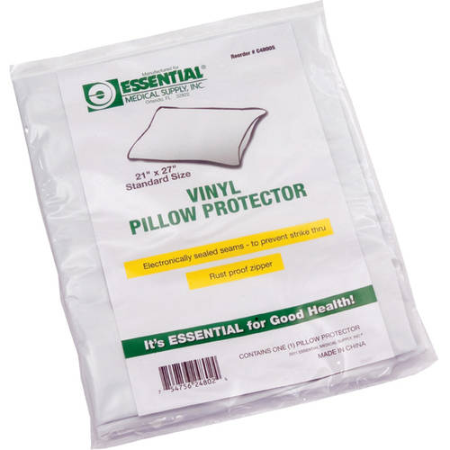 Zippered Vinyl Pillow Protector, King Size