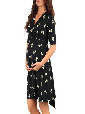 16fcc0aa52c Product Image Women s Pregnancy Butterfly Print Dress Maternity Short  Sleeve Sundress Clothing