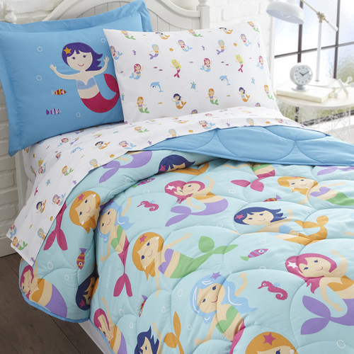 Olive Kids Mermaids 5-Piece Bed in a Bag Bedding Set by Buydecorativefilm