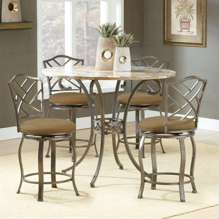 Hillsdale Brookside  Piece Counter Height Dining Table Set - Walmart dining table set