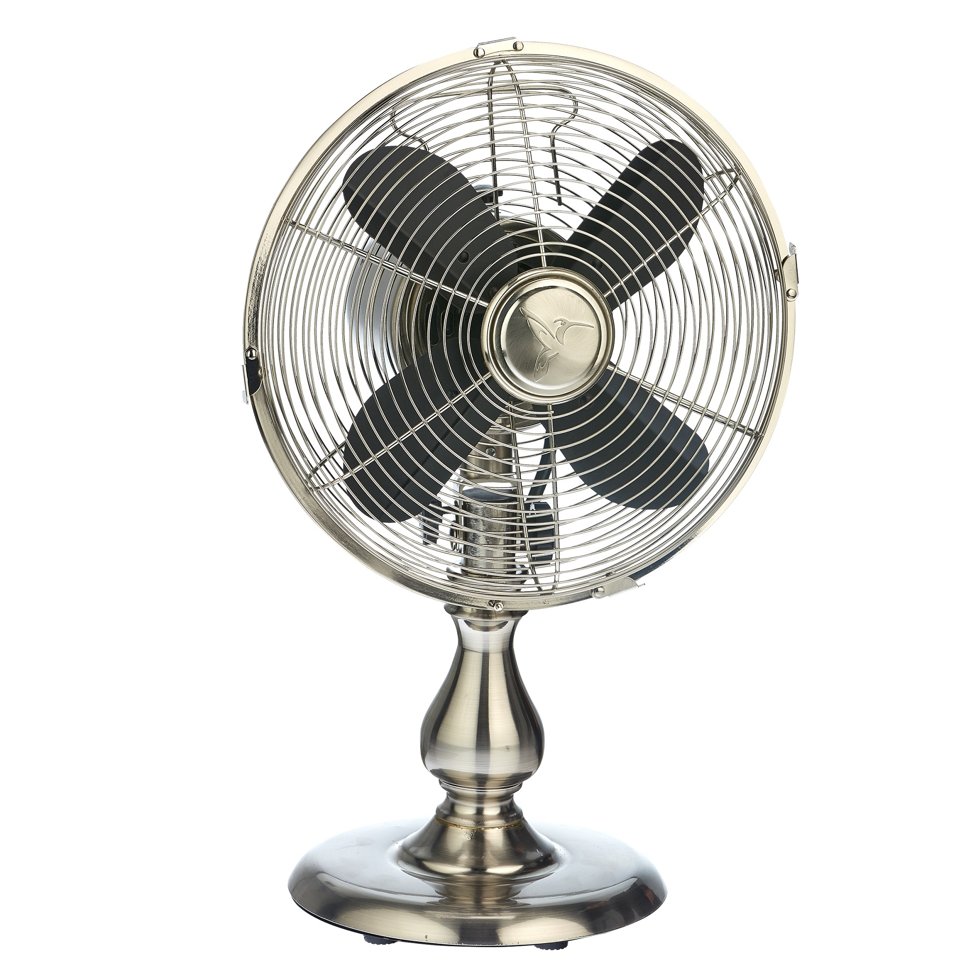 """19"""" Black and Metallic Gray Free Standing Table Fan"""
