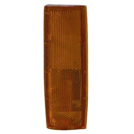 Compatible 1982 - 1993 Chevrolet S10 Side Marker Light Assembly / Lens Cover - Front Right (Passenger) Side 929918 GM2551108 Replacement For Chevrolet S10