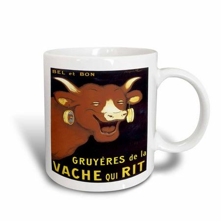 3dRose Vintage Bel et Bon Gruyeres de la Vache Qui Rit Advertising Poster, Ceramic Mug, 11-ounce