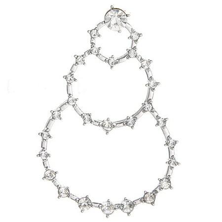 KABOER 1Pc Punk Big Geometric 3 Circle Metal Long Dangle Diamond Earrings For Women Bohemian Party Exaggerated Fashion Jewelry Stylish