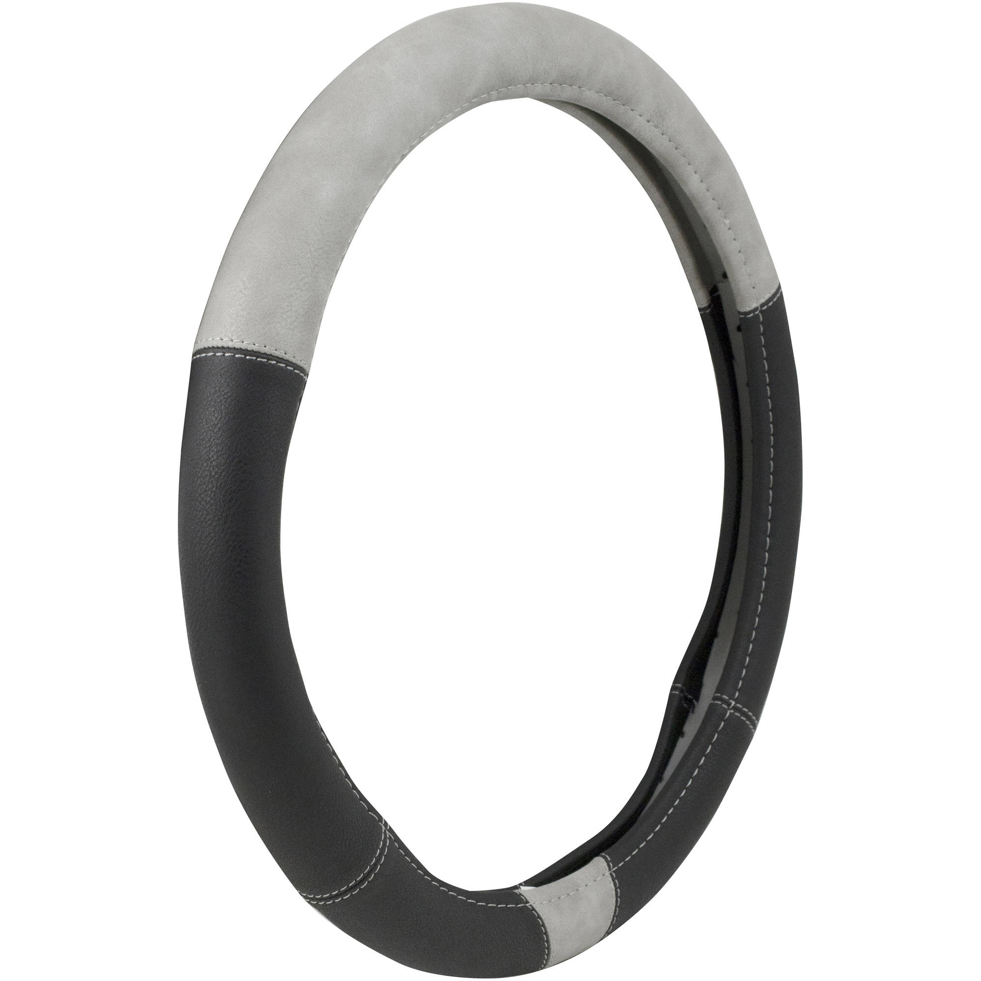 Weathered Grey/Black Steering Wheel Cover