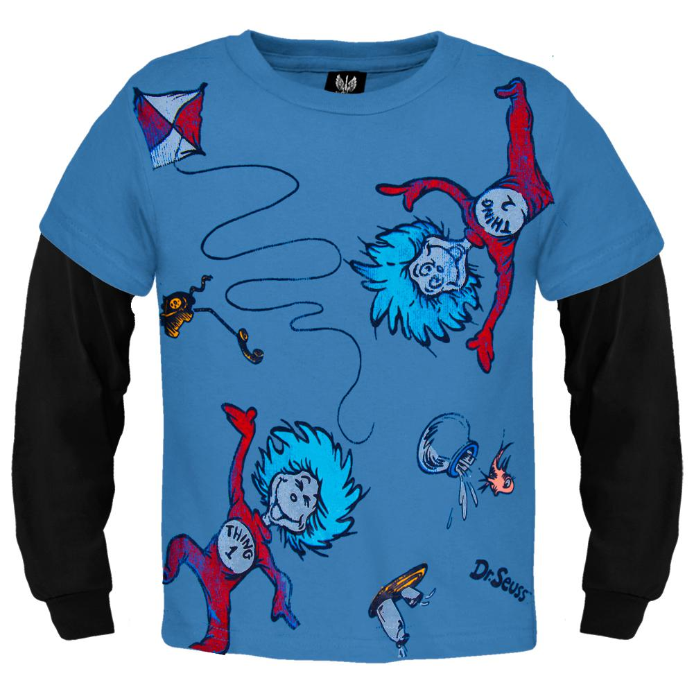 Dr Seuss Kids Shirts: Thing One Thing Two Playing