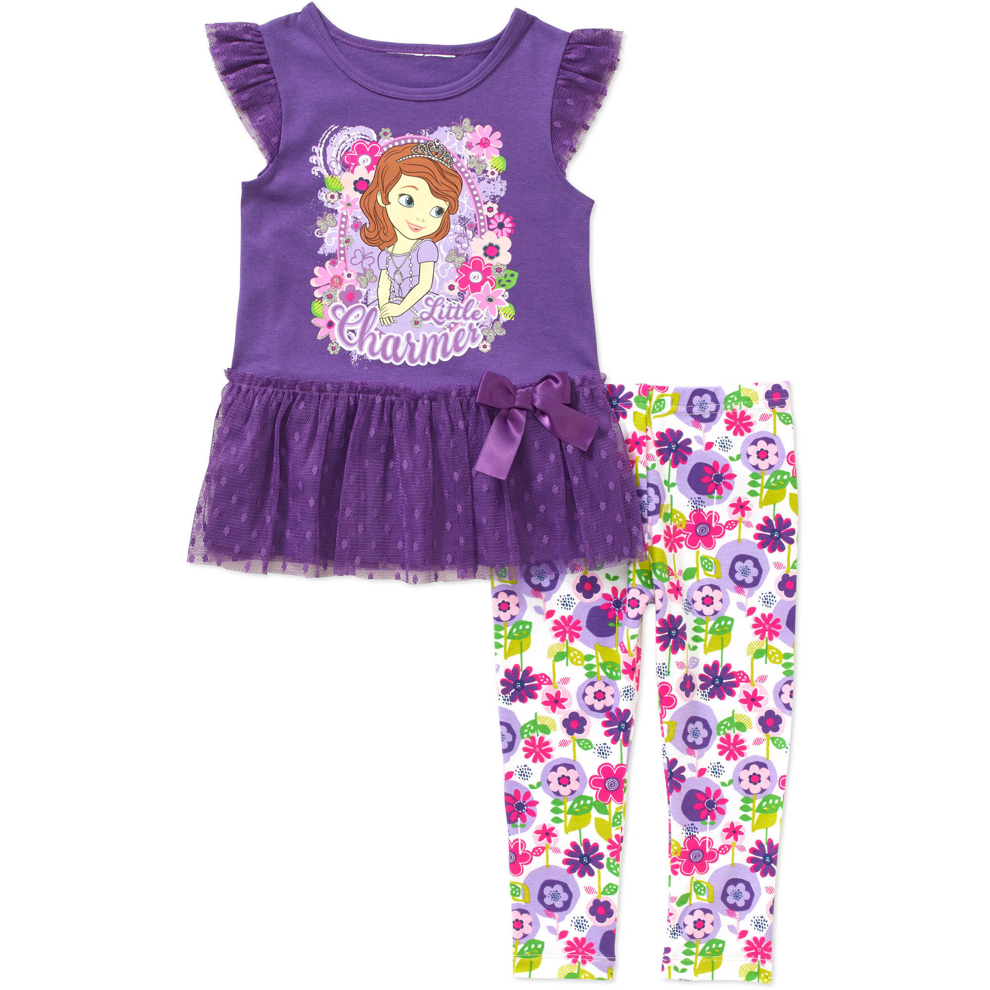 Disney Sofia the First Princess Toddler Girls' Skirted Tunic and Leggings Outfit Set