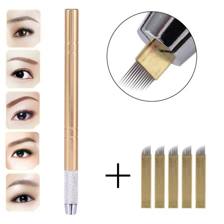 Yosoo 3D Eyebrow Tattoo Microblading Blade Needle Pen Pencil Manual ...