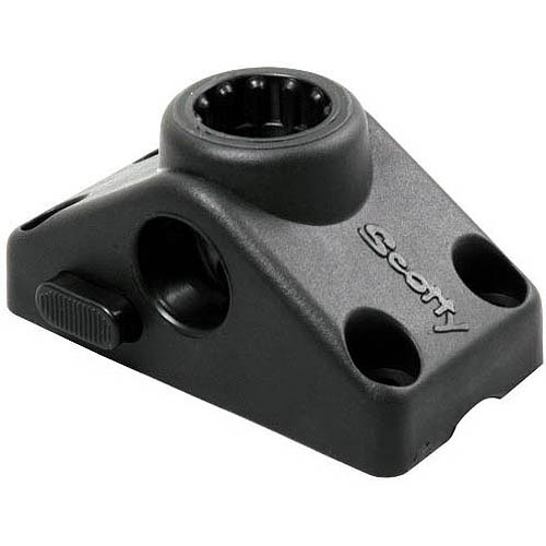 Scotty Side/Deck Mounting Bracket, Locking, Black
