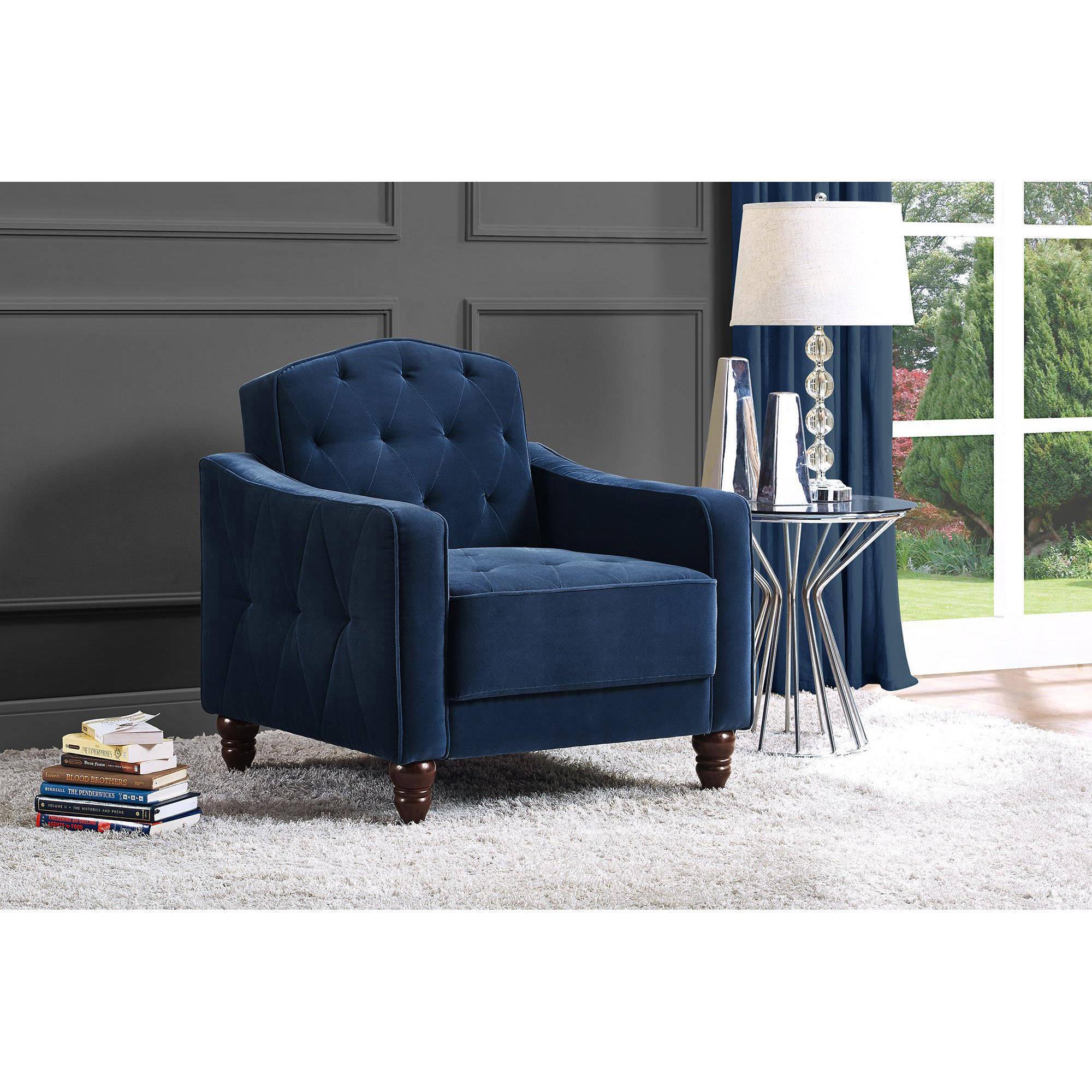 Novogratz Vintage Tufted Armchair Multiple Colors Walmart Com