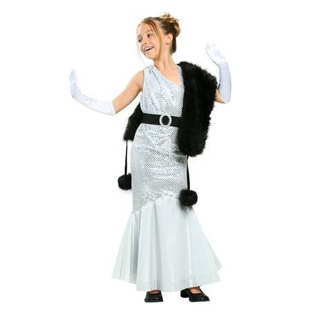 Girls Silver Movie Star Costume - Girls Movie Star Costume