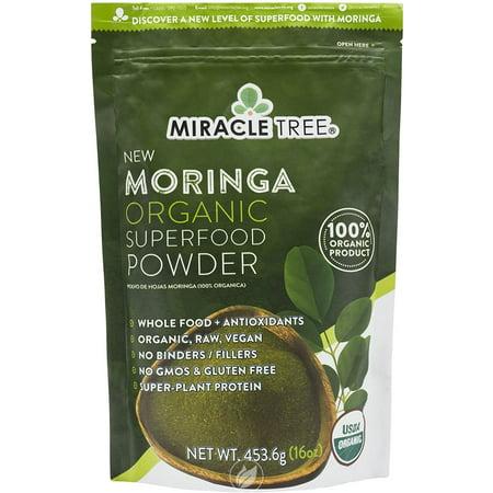 Miracle Tree Organic Moringa Powder Lg 16Oz