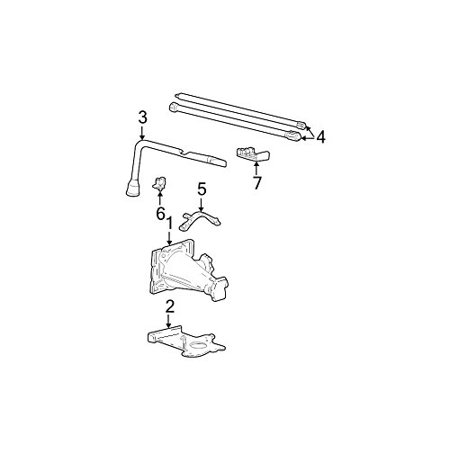 Jack Ford Cars (Ford F81Z-17081-AA - LEVER - LIFTING JACK )