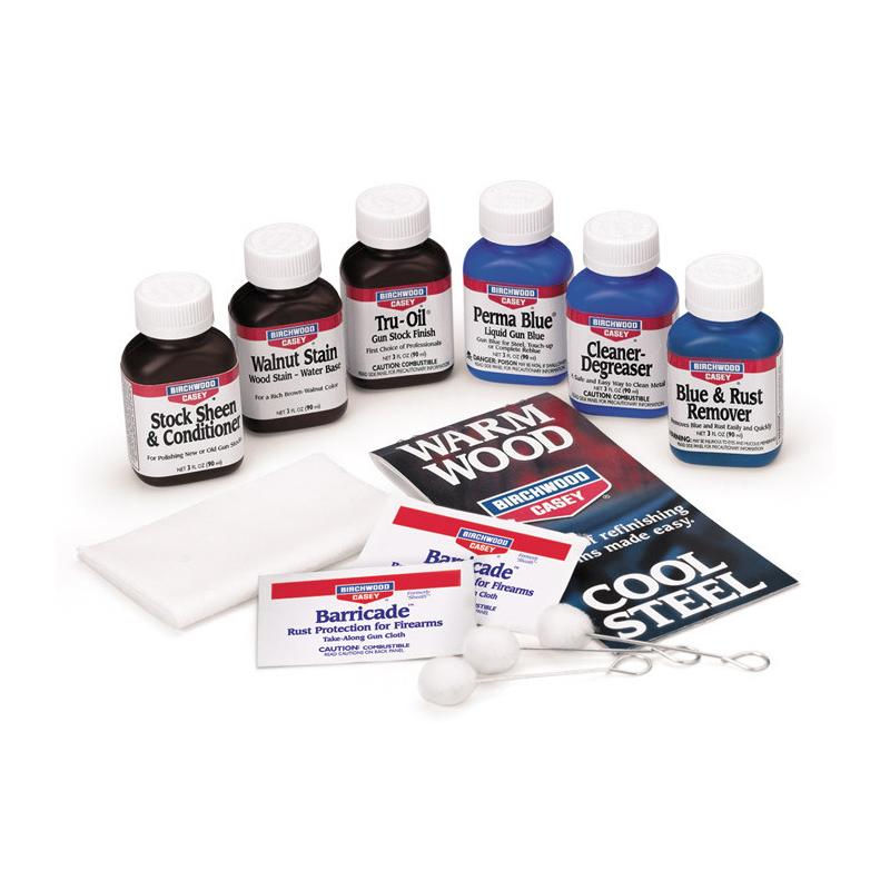Birchwood Casey Deluxe Perma Blue& TruOil Complete Finish Kit