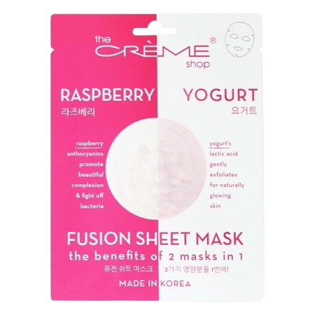 Creme Shop 3 Piece Two in One Face Mask - Raspberry & Yogurt