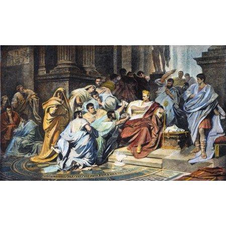 Julius Caesar  100 44 Bc  Nroman General And Statesman The Assassination Of Julius Caesar By Roman Nobles Including Marcus Junius Brutus And Caius Cassius Longinus At The Senate On The Ides Of March 1