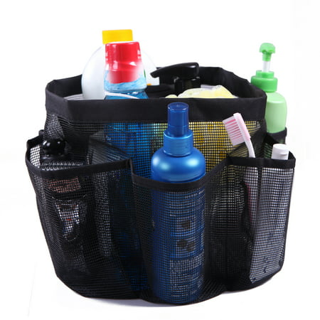 Family Shower Caddy (HDE Packable Mesh Shower Bag Caddy [Quick Dry] Bathroom Carry Tote Toiletry and Bath Organizer for College Dorms, Gym, Camping, and Travel (Black) )