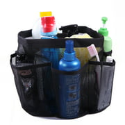 HDE Packable Mesh Shower Bag Caddy [Quick Dry] Bathroom Carry Tote Toiletry and Bath Organizer for College Dorms, Gym, Camping, and Travel (Black)