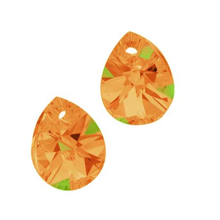 - Swarovski Crystal, #6128 Mini Pear Pendants 8mm, 8 Pieces, Crystal Copper