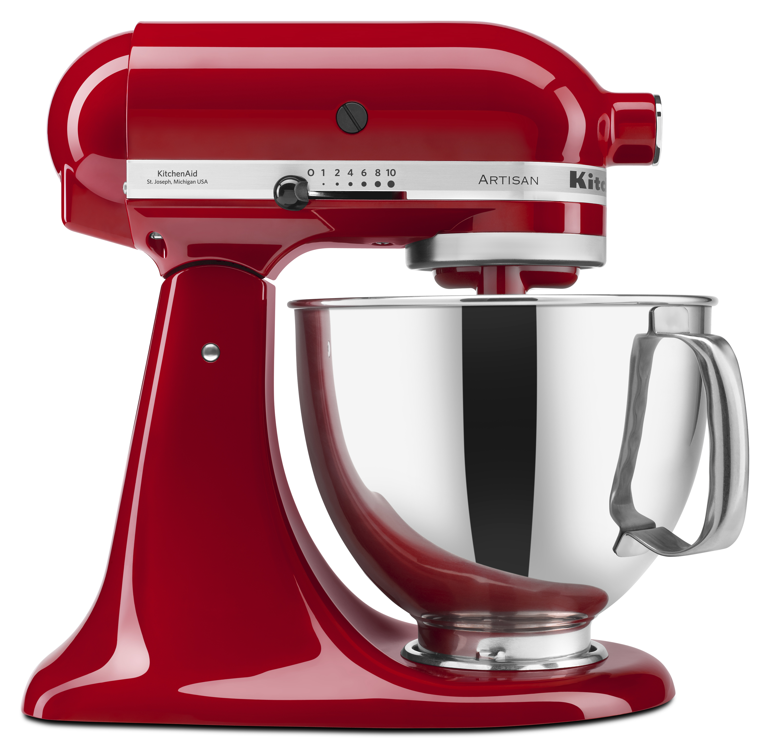 KitchenAid? Artisan? Series 5 Quart Tilt-Head Stand Mixer, Empire Red (KSM150PSER)