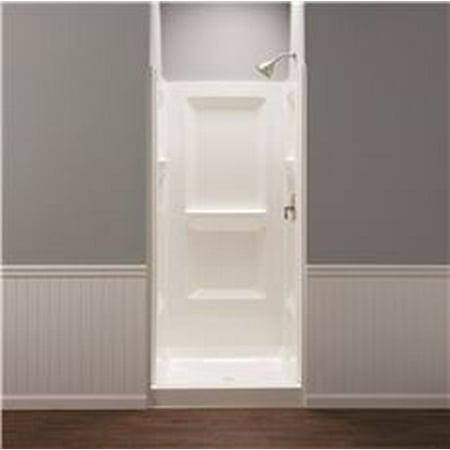 Durawall Fiberglass Shower Wall Kit, 3 Pieces, 3 Shelves, White, 36 ...