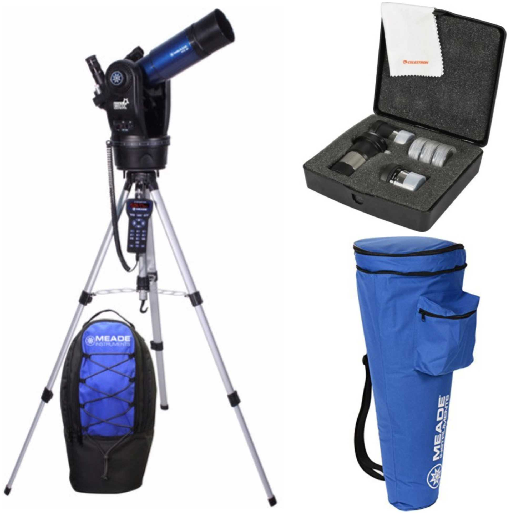 Meade ETX 80 Observer Telescope & Tripod (205002) W Astromaster Eyepieces Kit by Meade