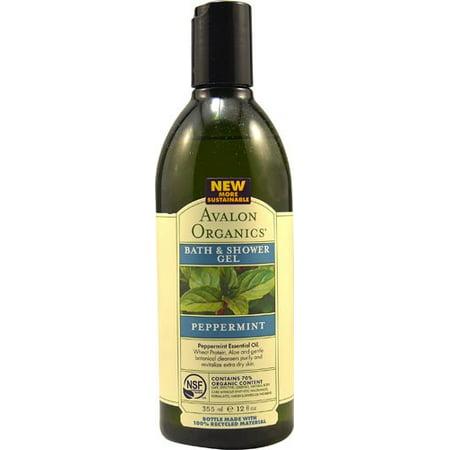 - Avalon Organics Bath & Shower Gel, Revitalizing Peppermint 12 oz