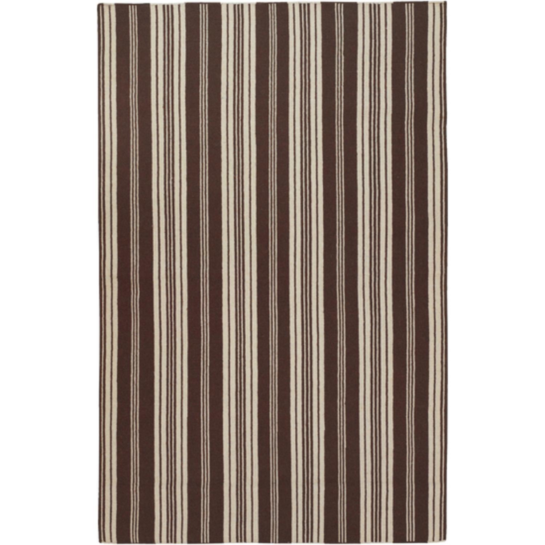 3.5' x 5.5' Pleasant Comfort Dark Chocolate Brown Wool Area Throw Rug