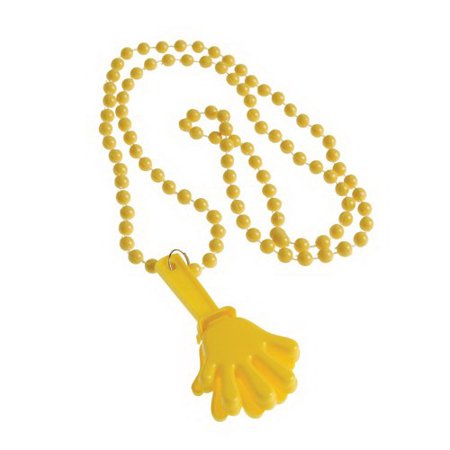 (Price/12 Pieces)US TOY KD40-08 Yellow Hand Clapper Beaded - Clapper Toy
