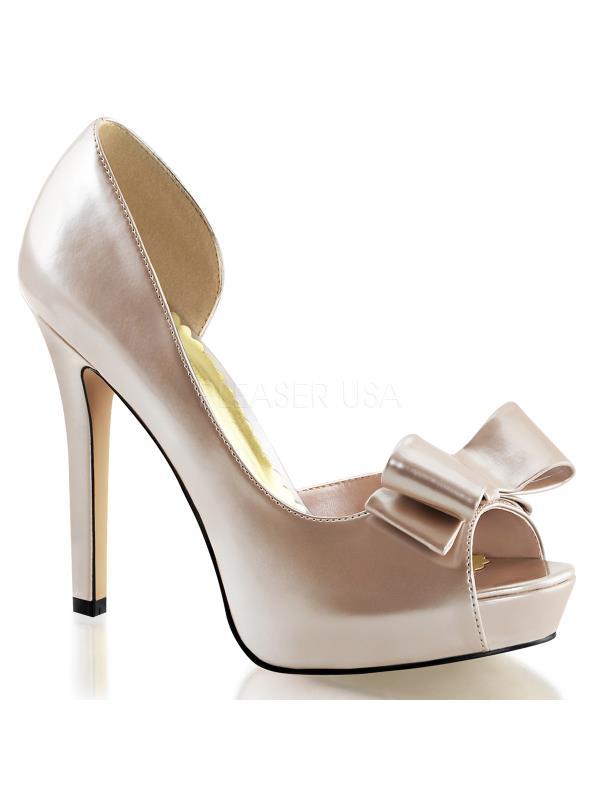 "Champagne Pat Fabulicious Shoes 4 3/4"" Lumina Size: 5"