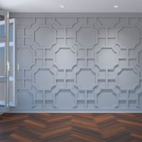 Large Bradley Decorative Fretwork Wall Panels in Architectural Grade PVC