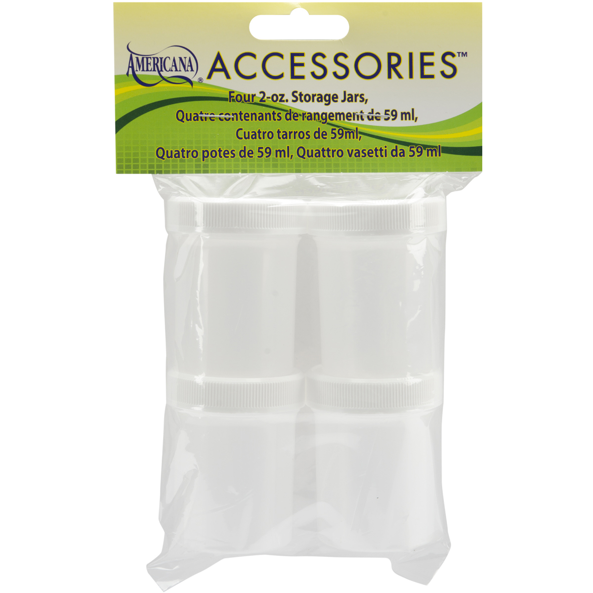 Storage Jars 4 Pkg-2oz by