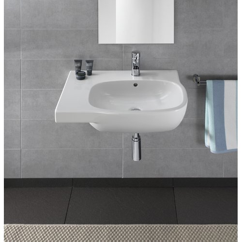 Bissonnet Moda Vitreous China 26'' Wall Mount Bathroom Sink with Overflow